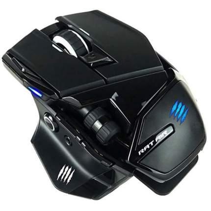 Комплект беспроводная игровая мышь + коврик Mad Catz R.A.T. AIR Black