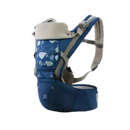 Эргорюкзак хипсит Aiebao 3-36 месяцев синий без сетки