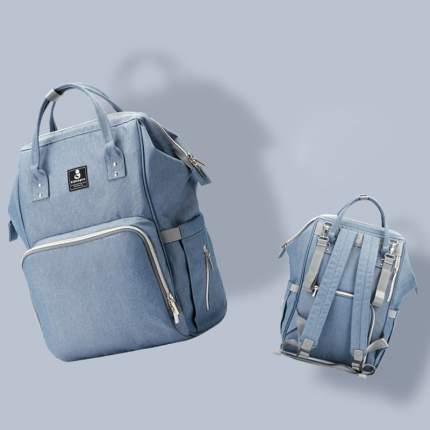 Сумка-рюкзак для мамы Diweilu с USB бирюзовый