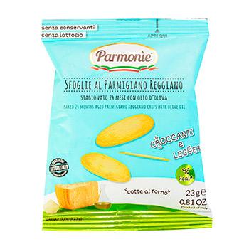 Снеки Parmonie из запеченного сыра пармиджано реджано с оливковым маслом 23 г