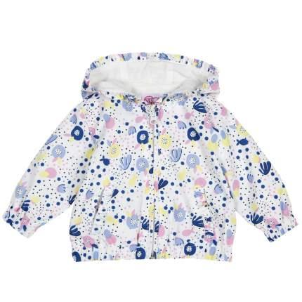 Куртка для девочек Chicco Кляксы, цвет белый, размер 98