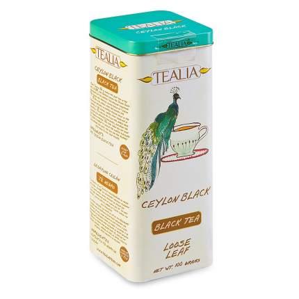 Чай черный TeaLia Ceylon листовой 100 г