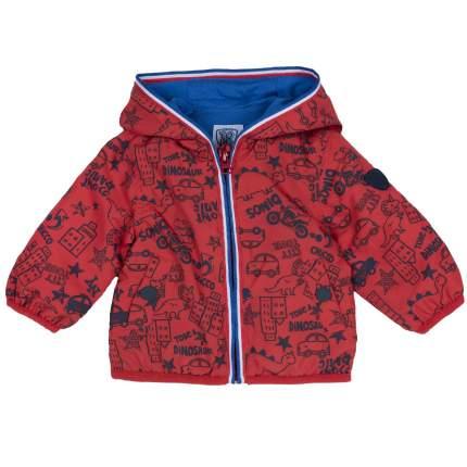 Куртка для мальчиков Chicco с машинками, цвет красный, размер 74