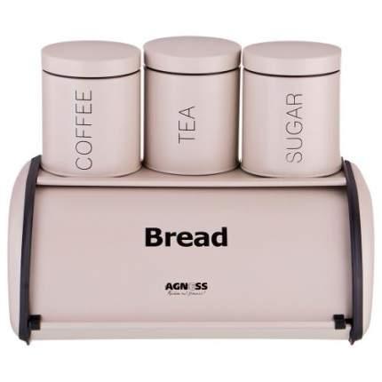 Хлебница AGNESS, 35,5x23x14,5 см, с набором для хранения