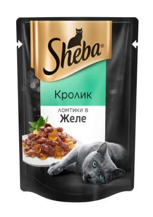 Влажный корм для кошек Sheba Pleasure, ломтики в желе, кролик, 24 шт. по 85 г