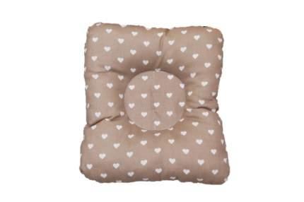 Подушка для кормления и сна AmaroBaby BABY JOY СЕРДЕЧКИ Кофе