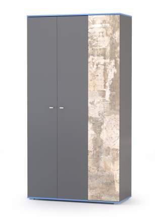 Шкаф комбинированный Mobi Индиго 13.06 тёмно серый/граффити, 115х51х220 см