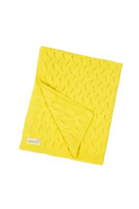 Плед детский вязаный Amarobaby Pure Love Волна желтый, 105х75