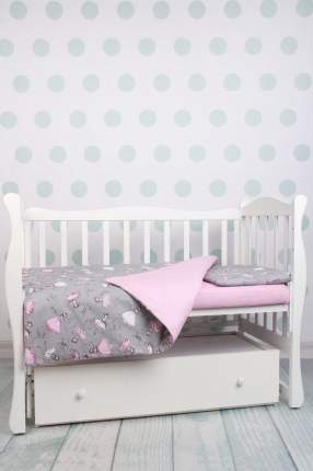 Комплект в кроватку AmaroBaby BABY BOOM Мечта/серый, бязь, 3 предмета