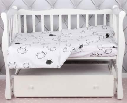 Комплект в кроватку AmaroBaby BABY BOOM Овечки, поплин, 3 предмета