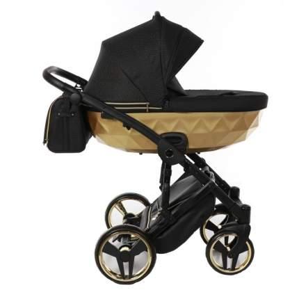 Коляска детская 2 в 1 JUNAMA MIRROR SATIN JDMS-03 черный/короб матовое золото