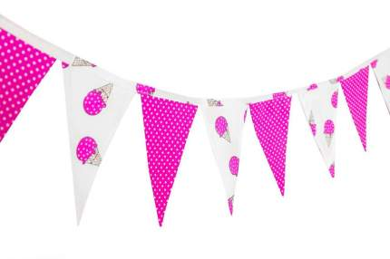 Гирлянда из флажков в детскую комнату AmaroBaby Pretty Room Мороженки розовый