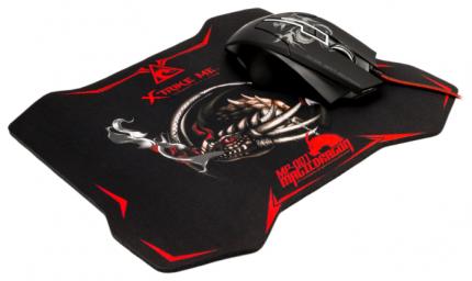 Игровая мышь Xtrike Me 6 Black + коврик (GMP-501)