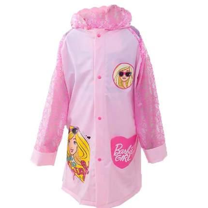 Дождевик детский Baziator Кукла с карманом под рюкзак light pink, размер M