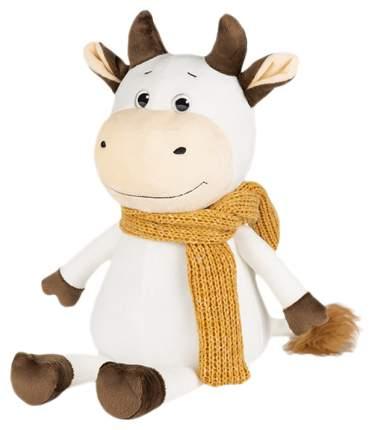 Мягкая игрушка Бычок Афоня в шарфе 28 см Maxitoys Luxury
