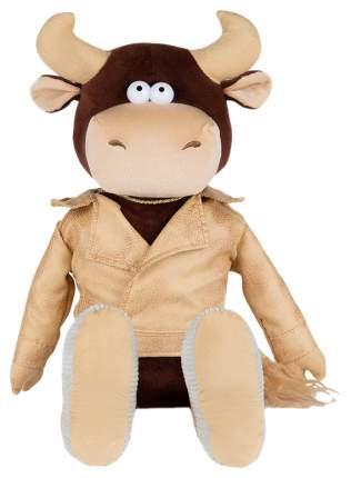 Мягкая игрушка Бык Вова в кожаной куртке 28 см Maxitoys Luxury