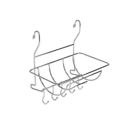 Полка на рейлинг для полотенец с крючками MX-401 хром глянец