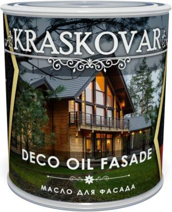 Масло для фасада Kraskovar Deco Oil Fasade Тик 2,2л