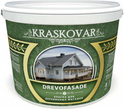 Краска для деревянных фасадов Kraskovar Drevofasade база А 1л