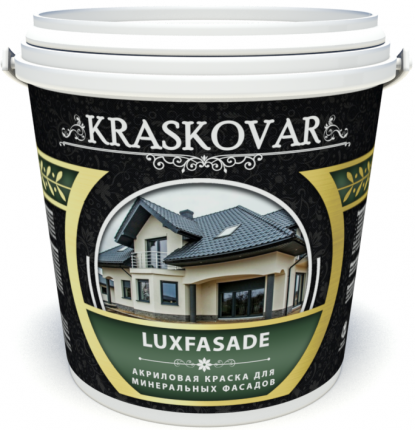 Краска акриловая для минеральных фасадов Kraskovar Luxfasade база С 1л
