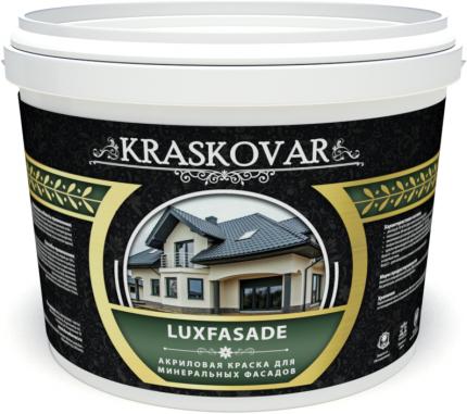 Краска акриловая для минеральных фасадов Kraskovar Luxfasade база А 10л