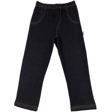 Штаны Папитто джинс футер черный, размер 116
