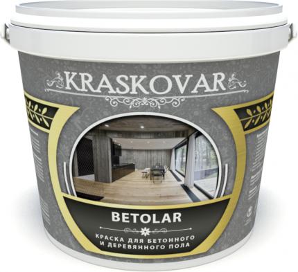 Краска для бетонного и деревянного пола Kraskovar Betolar база А  0,9л