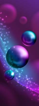 Фотообои Московская Обойная Фабрика Фиолетовые шары 5169-М