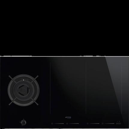 Встраиваемая комбинированная панель Smeg PM6912WLDX Black