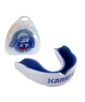 Капа Fight Expert Karate, белая/синяя, One Size