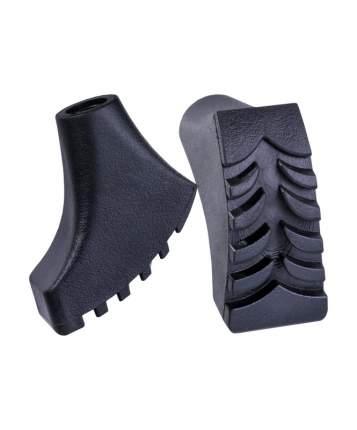 Berger Комплект наконечников для скандинавских палок, 2 шт., чёрный