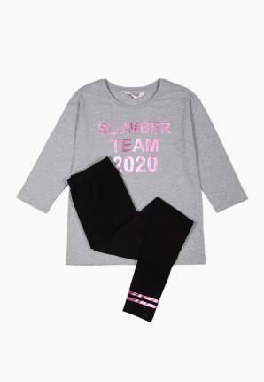 Пижама (топ брюки) для девочек Modis цв. серый р.158-164