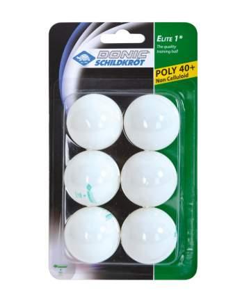 Donic Мяч для настольного тенниса 1* Elite, белый, 6 шт.