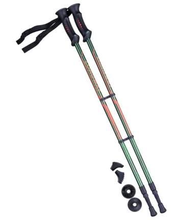 Палки для скандинавской ходьбы Berger Longway, 77-135 см, тёмно-зеленый/оранжевый