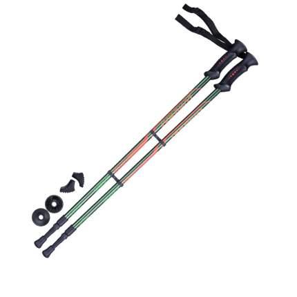Палки для скандинавской ходьбы Berger Longway, зеленый/оранжевый, 77-135 см