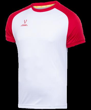 Футболка Jogel Camp Reglan, white/red, L INT