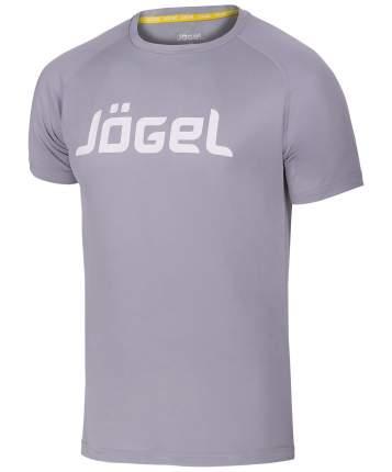 Футболка для фитнеса Jogel JTT-1041-081, grey/white, L