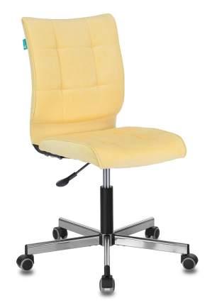 Офисное кресло Бюрократ CH-330M/VELV74, желтый/серебристый