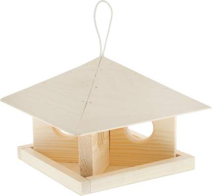 Кормушка для птиц Гавриш Шатер, береза, сосна, 24х24х18 см