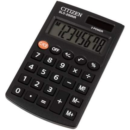 """Калькулятор карманный """"Citizen SLD-200NR"""", 8 разрядов, черный"""