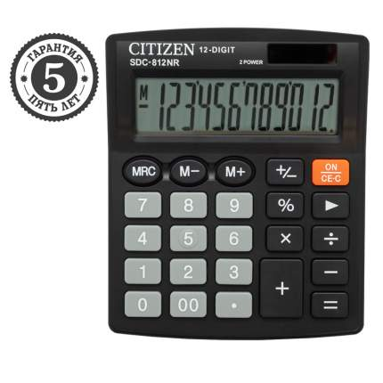 Калькулятор Citizen, SDC812NR, 12 разрядов