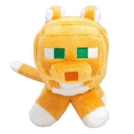 Плюшевая игрушка Lele Оранжевый кот Tabby Cat из Майнкрафт, 18 см