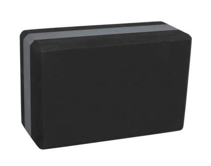 Блок для йоги YB-201 EVA, 22,8х15,2х10 см, 350 гр, черно-серый