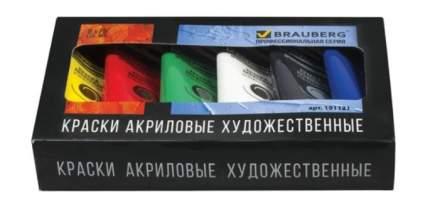 Краски акриловые BRAUBERG, ART CLASSIC, 75 мл, 6 цветов