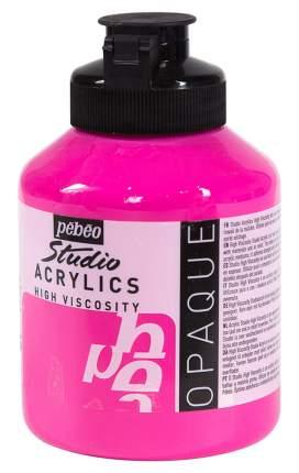 """Краска акриловая PEBEO """"Studio Acrylics"""", 500 мл, цвет: ярко-розовый, арт. 171045"""