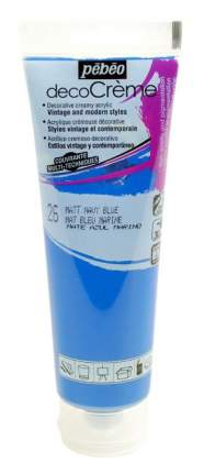 """Краска акриловая кремовая матовая PEBEO """"decoCreme"""", 120 мл, цвет: 089026 синий морской"""