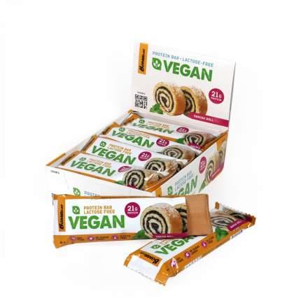 Протеиновый батончик для веганов Bombbar Vegan protein bar Датский рулет, 12 штук