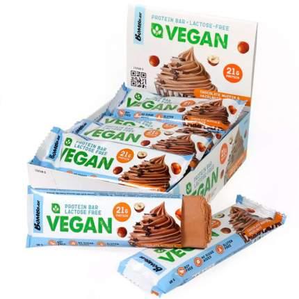Протеиновый батончик веган BOMBBAR Vegan protein bar Шоколадный маффин с фундуком, 12х60 г