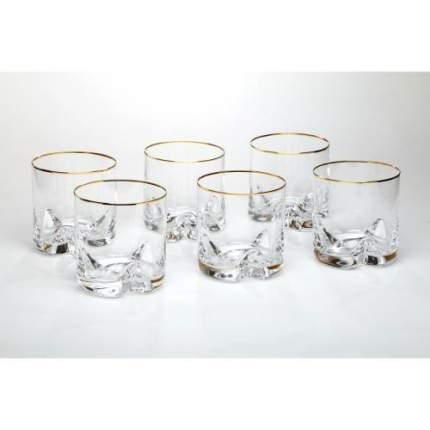 Набор стаканов для виски Bohemia Crystal, Trio, 6 предметов