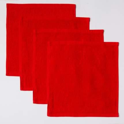 Полотенце (салфетка) махровое кухонное (Красный) 30х30